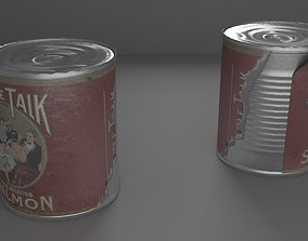 Tin Can 3D model low-poly