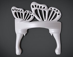 3D print model Simple Chair legs Ornament with Butterfly
