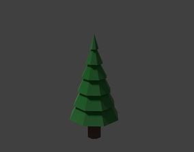 3D asset Low-Poly Pine Tree