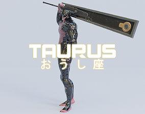 Low Poly - Cyborg Zodiac Theme - Taurus 3D asset