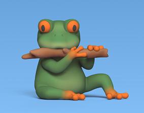 Flute Frog 3D print model