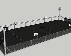 Detaild SketchUp Model of a Play Court