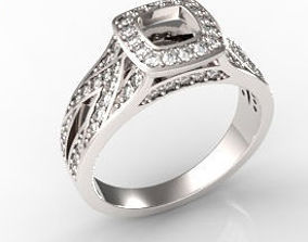 pave ring jewelry 3D print model