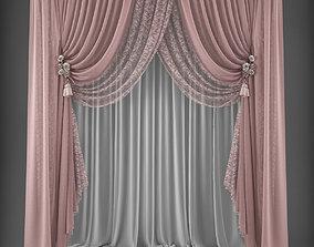 3D asset VR / AR ready Curtain cloth