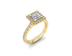 3D print model Solitaire Ring 23