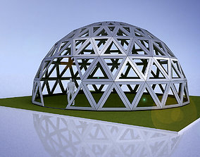3D dome geodesic dome like frame structure with entry