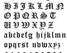 3D printable model Gothic Alphabets Little Letter Pendants
