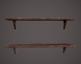 3D model Medieval Tavern Shelf