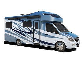 Recreational Vehicle Blue 3D