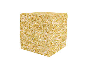 Brown sugar cube 3D