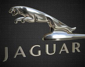 Jaguar hood ornament 3D