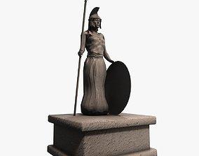 Athena greek stone statue 3D asset