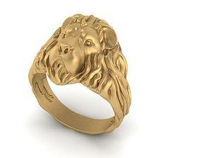 printable 3D printable model lion ring