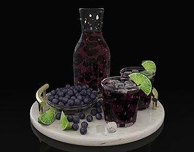 3D Blueberry juice