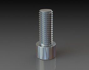 Allen bolt M12x30 3D model