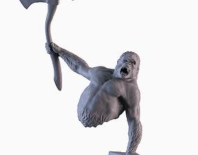Gorilla Attack Statue 3D printable model