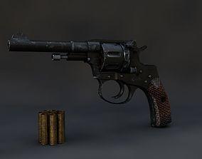 3D model Revolver Nagant 1895