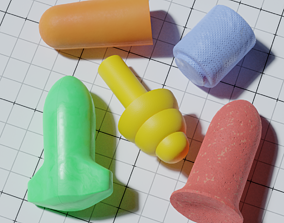 Various Earplugs 3D model