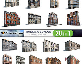 Building Facades BUNDLE2 3D asset