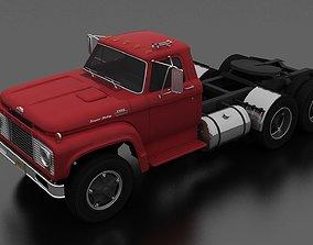 T-Series T-850 Semi Truck 1964 Tandem Axle 3D model