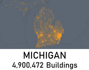 low-poly Michigan - 4900472 3D Buildings