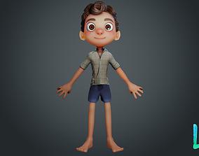 Luca Paguro - Disney Pixar 3D Model rigged