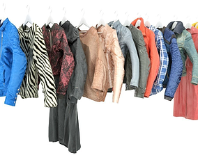 Clothing On hanger 14 Piece Collection 3D asset
