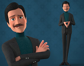3D model CARTOON MAN - RIGGED TEACHER AND FATHER CHARACTER