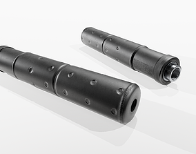 Knights Armament USP-T 45ACP Suppressor 3D asset
