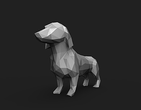3D print model Dog Low Poly 2