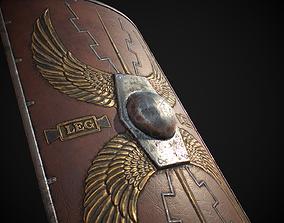 3D asset Roman shield Scutum
