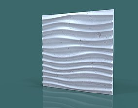 wall decor seamless wave 3d stl model for cnc
