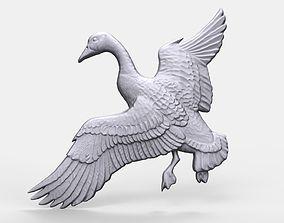 Canadian goose bas relief 3D print model