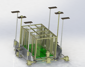 Positioning mechanism of heavy-duty platform 3D