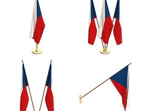 Czech Republic Flag Pack 3D