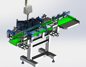 Assembly line of labeling machine 3D model