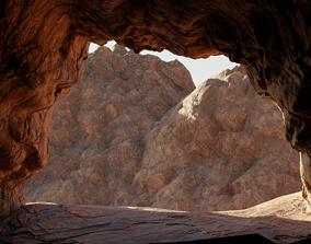Cave low-poly 3D model