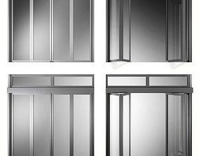 Folding Metal Automatic Door 3D model door