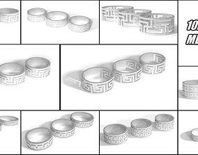 10 meandr rings pack 3D print model