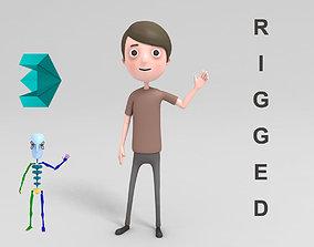 free 3D Cartoon Man Rigged