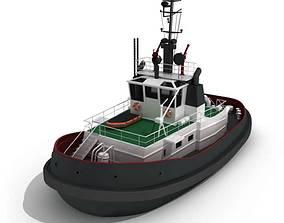 Small Tug Boat 3D model