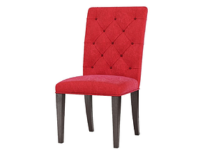 Tufted Side Chair 3D