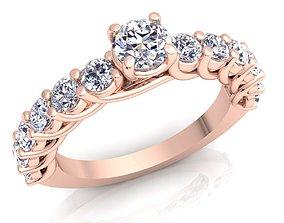Diamond Ring 19 wedding 3D printable model