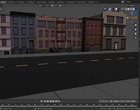 Low poly Buildings and Assets realtime