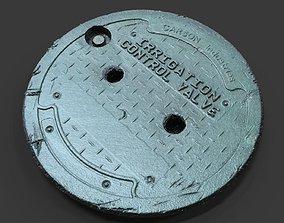 Irrigation Control Valve Utility Cover 3D model