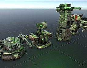 3D asset Complete Turret