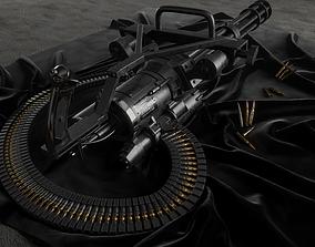 M134 Minigun 3D asset