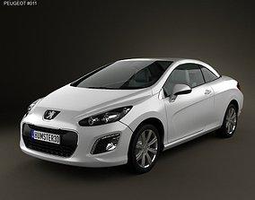 3D model Peugeot 308 CC 2012