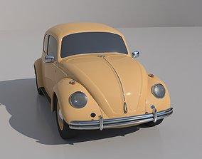 retro volkswagen 3D model Volkswagen beetle
