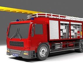 3D model HGV Fire Truck